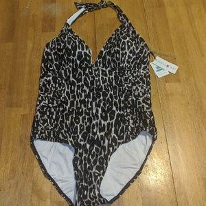 NWT Calvin Klein leopard bathing suit